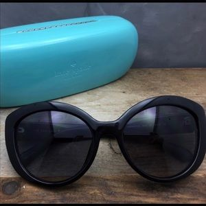Kate spade oversized black sunglasses